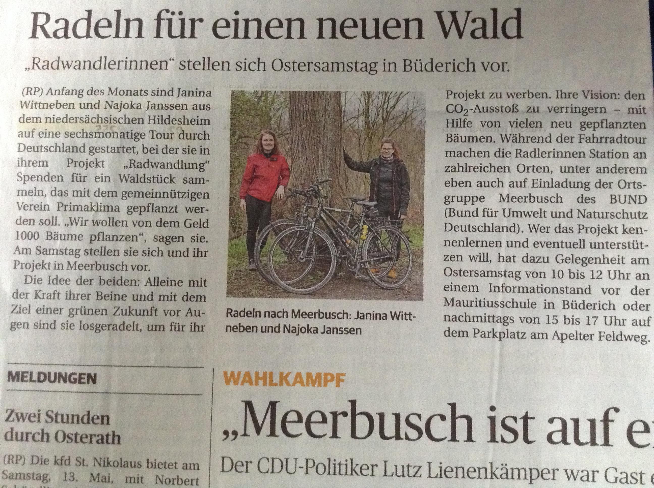 Rheinische Post vom 13.04.2017